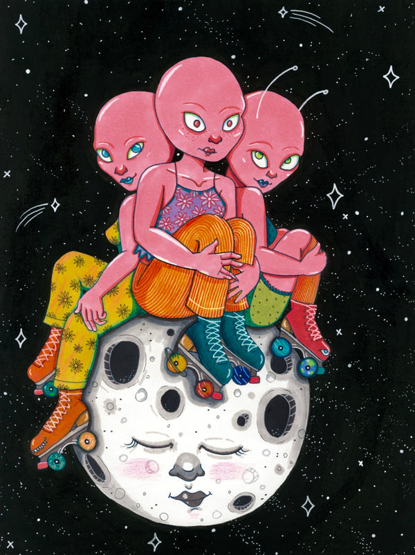 Cosmic Girls Art Print