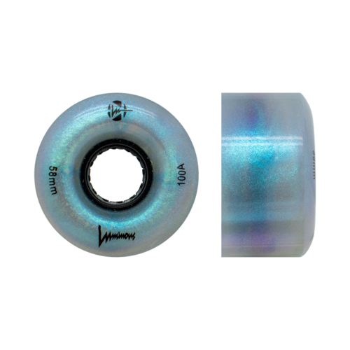 LUMINOUS 100a DANCE/RAMP LIGHT UP WHEELS - BLACK PEARL 58mm