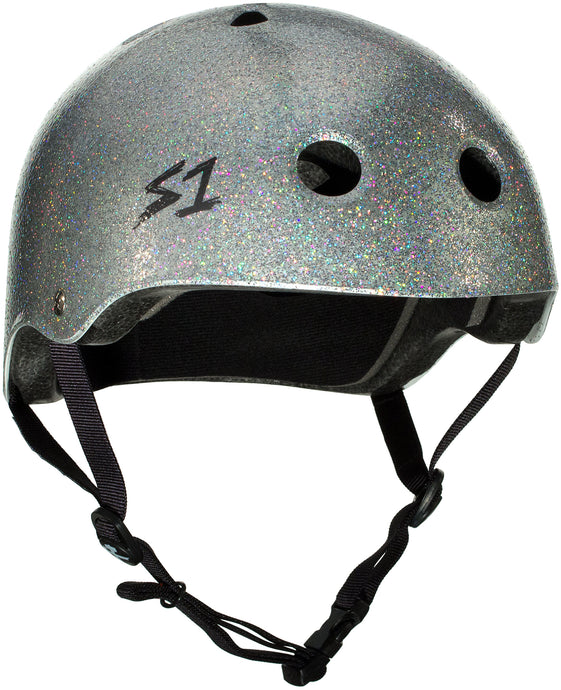 S1 Lifer Helmet - Silver Gloss Glitter