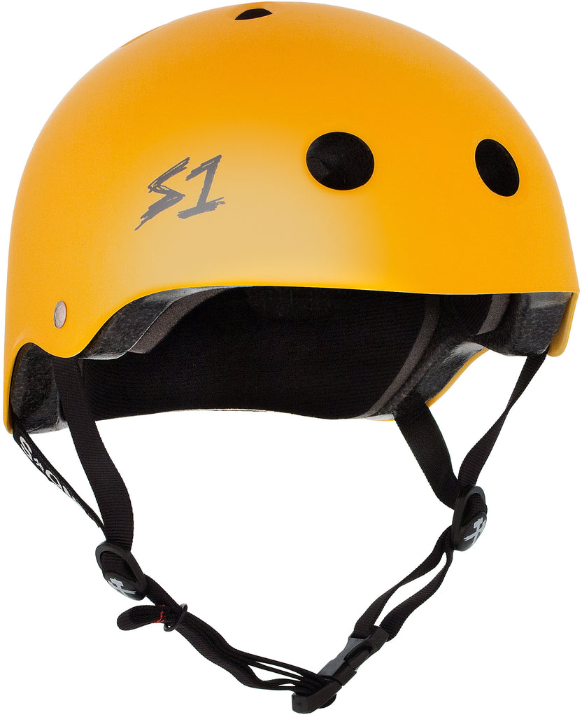 S1 Lifer Helmet - Yellow Matte - Pigeon's Roller Skate Shop