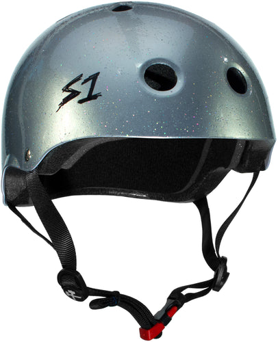 S1 Mini Lifer *KIDS* Helmet - Silver Gloss Glitter
