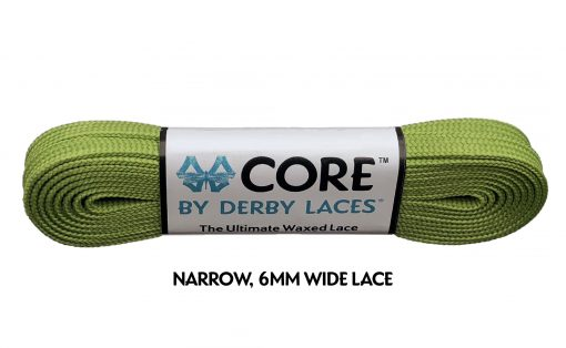 Olive CORE Derby Laces - Pigeon's Roller Skate Shop