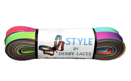 Rainbow Gradient Derby Laces