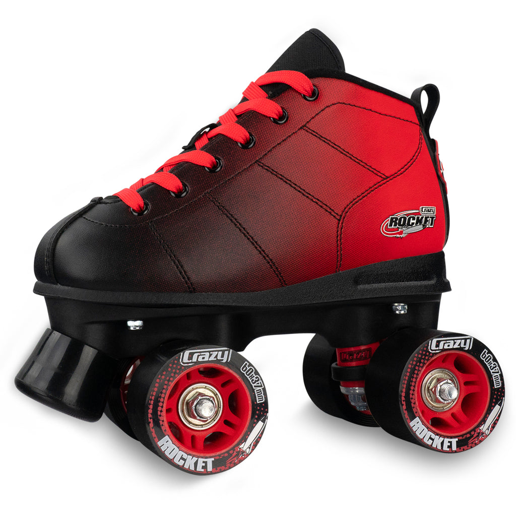Crazy Rocket Skate - Red/Black Hombre - Pigeon's Roller Skate Shop