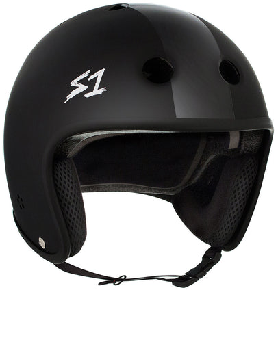 S1 Retro Lifer Helmet - Black Matte w/ Black Stripes