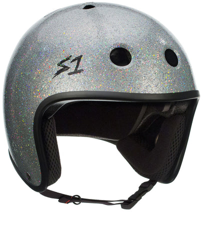 S1 Retro Lifer Helmet - Silver Gloss Glitter