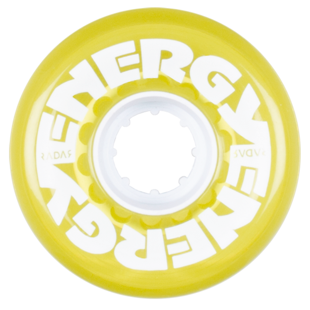 Energy Wheels - Clear Yellow 62mm  (8-pack)