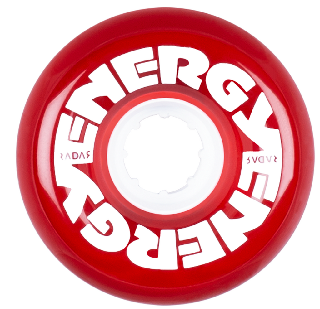 Energy Wheels - Clear Red 65mm  (8-pack)