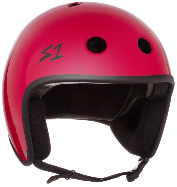 S1 Retro Lifer Helmet - Red Gloss