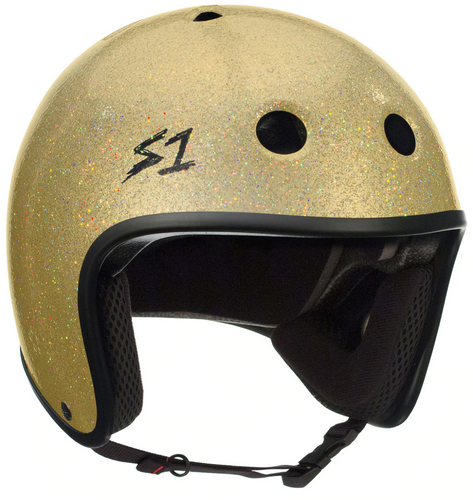 S1 Retro Lifer Helmet - Gold Gloss Glitter