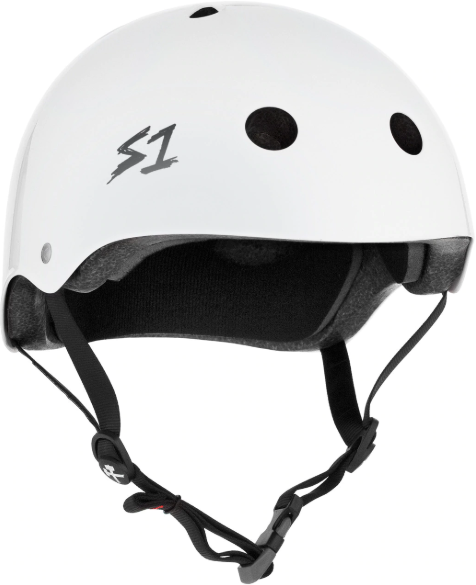 S1 Mega Lifer Helmet-White Gloss - Pigeon's Roller Skate Shop