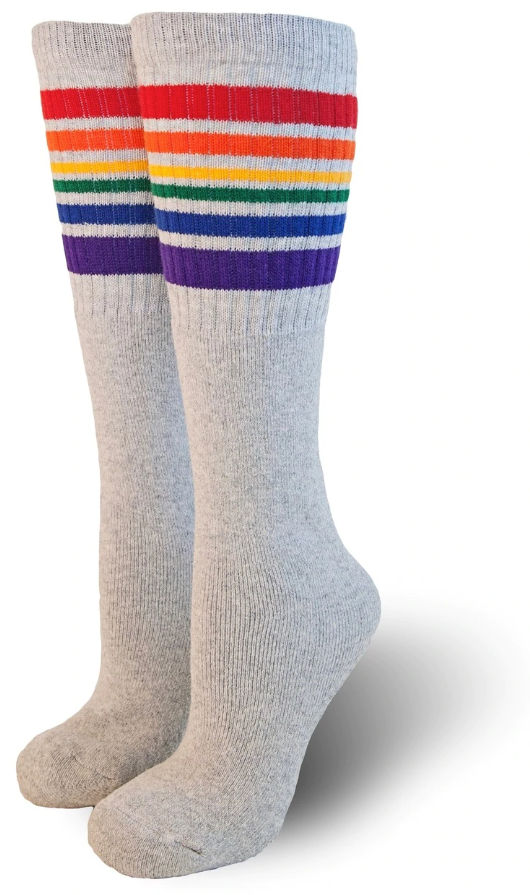 """Happy"" Knee High Pride Socks"