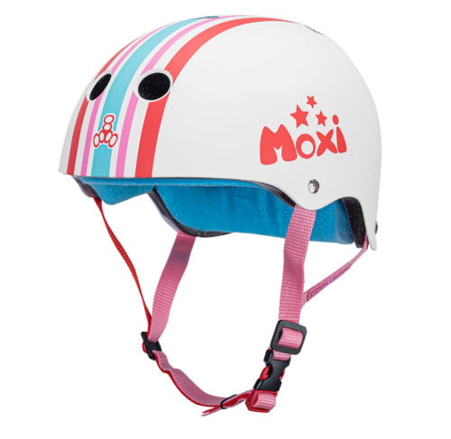 Moxi Stripey Triple 8 Certified Sweatsaver Helmet