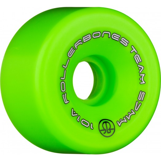 Green Rollerbones Team Wheels (8-Pack) - Pigeon's Roller Skate Shop
