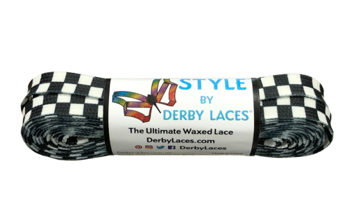 Checkered Black And White Derby Laces - 108 inch