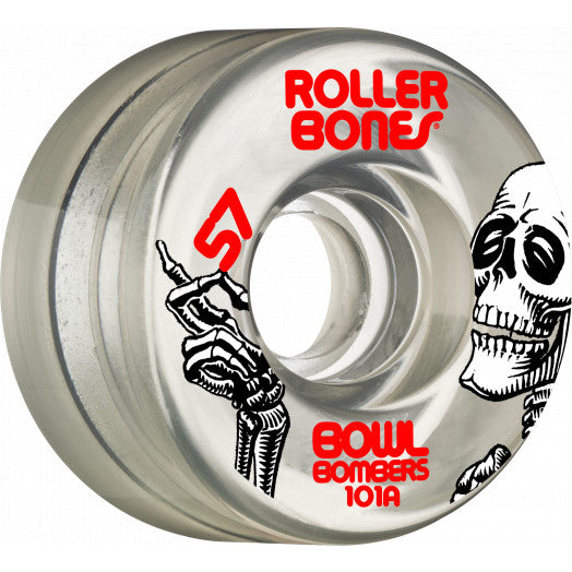 Rollerbones Bowl Bombers Wheels 101A - Clear (8-Pack)