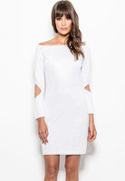 HH41-9292 Crystal off shoulder dress
