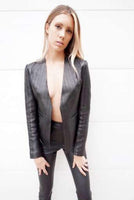 B50-351 Lamb herringbone perforated jacket