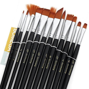 Paint By Number | Professional Paint Brush Set (12 pcs) | USD