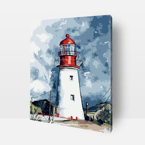 Paint By Numbers | Lighthouse Get ready to embark upon the journey of fun and self discovery ! Discover the artist in you and develop your creative side, mindfulness, love of colors, sense of satisfaction, and much more with this amazing Paint by Numbers Kit. Order your kit today or send us a photograph to be turned into a painting for you