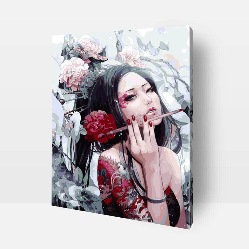 Paint By Numbers For Adults | Japanese Woman- Custom Paint By Numbers Kits ®