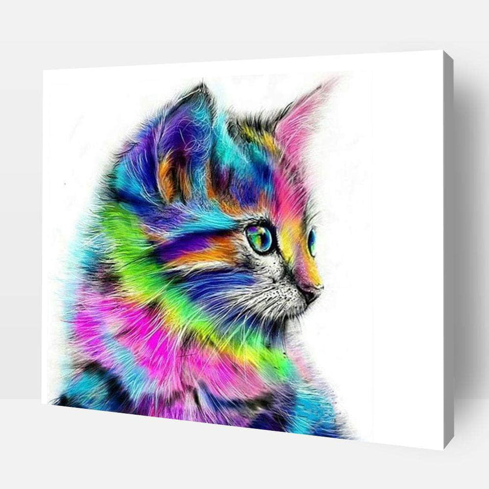 Paint By Numbers For Adults | Multicolor Kitten- Custom Paint By Numbers Kits ®