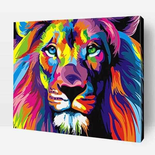 Paint By Number | Multicolor Lion