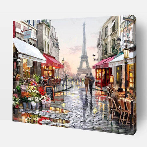 Paint By Number | Rainy Paris Street