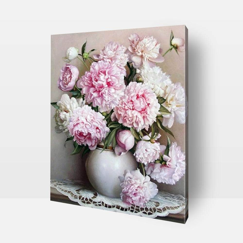 Paint By Numbers For Adults | Pink Peonies- Custom Paint By Numbers Kits ®