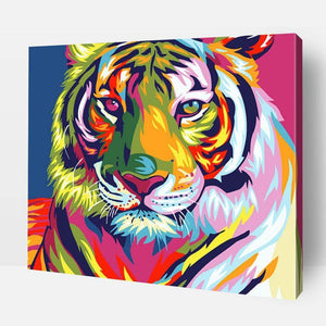 Paint By Number | Rainbow Tiger