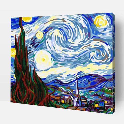 Paint By Numbers For Adults | Starry Night Over The Rhone- Custom Paint By Numbers Kits ®