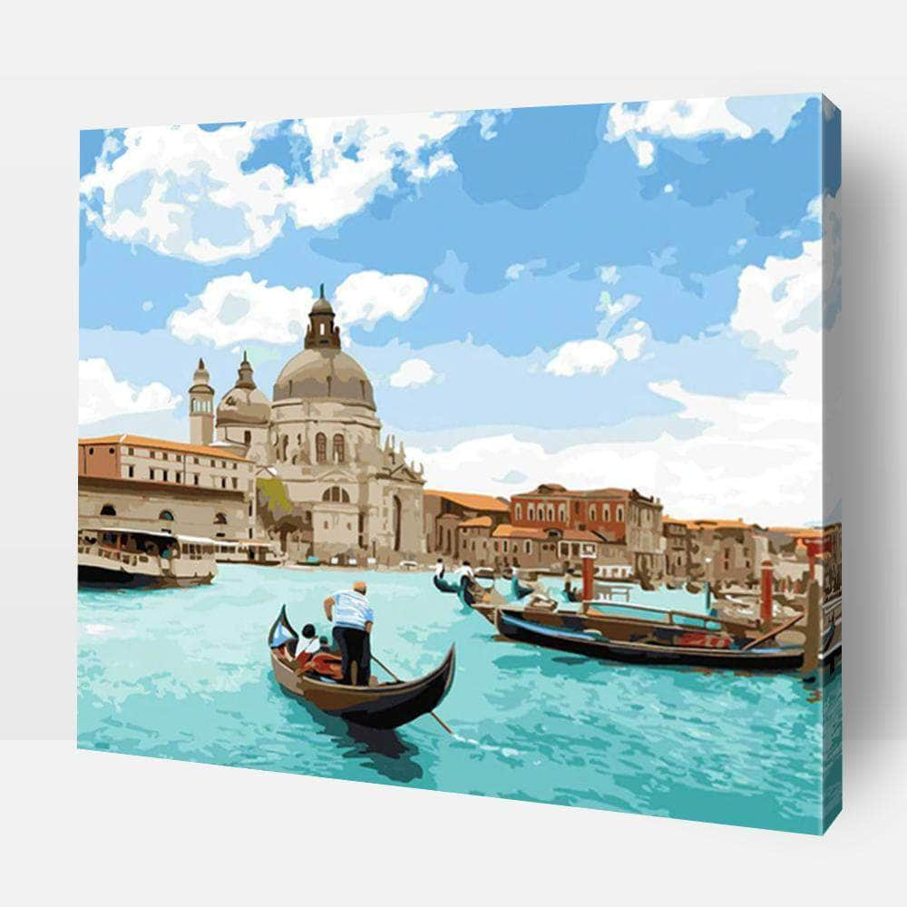 Paint By Numbers For Adults | Romantic Canal Tour- Custom Paint By Numbers Kits ®