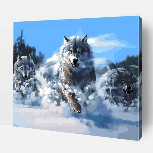 Paint By Numbers - Paint By Numbers | Charging Wolf