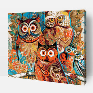 Paint By Number | Vintage Owl