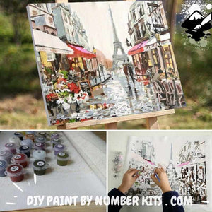 Paint By Numbers - Paint By Numbers | Rainy Paris Street