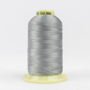 WonderFil 400m/437yd 12wt solid thread  number AC990 Light Grey
