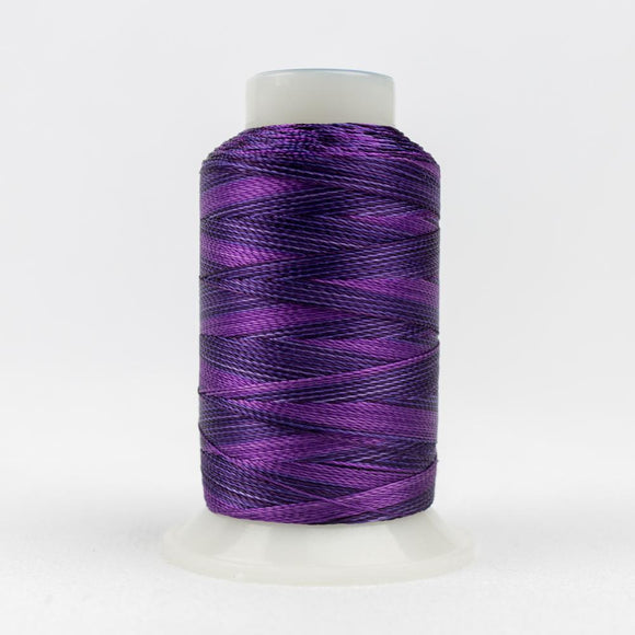 WonderFil 400m/437yd 12wt variegated thread  number ACM10 Purple Magenta