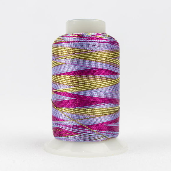 WonderFil 400m/437yd 12wt variegated thread  number ACM12 Pink Blue