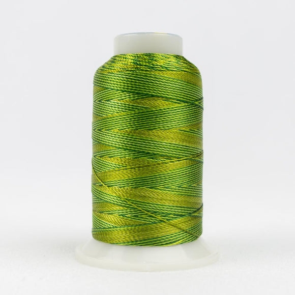 WonderFil 400m/437yd 12wt variegated thread  number ACM16 Green Foliage