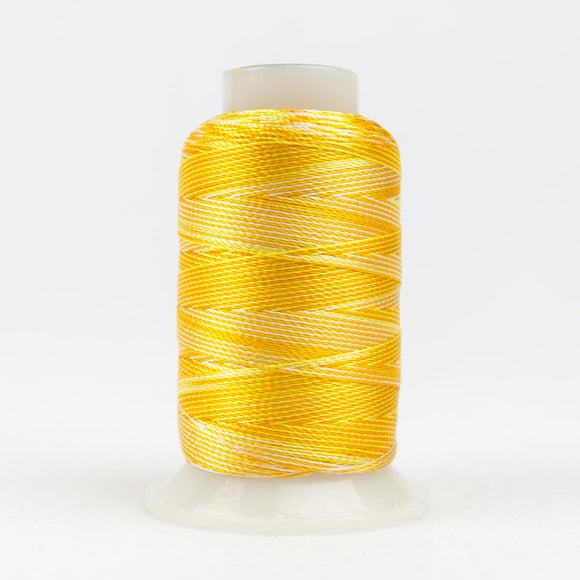 WonderFil 400m/437yd 12wt variegated thread  number ACM36 Oranges/Yellows