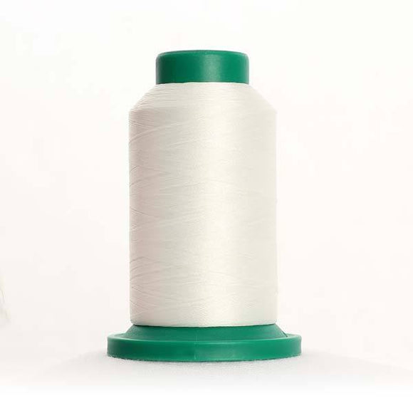 Isacord 1000m/1100yd 40wt solid trilobal polyester thread  number 0003 Ghost White