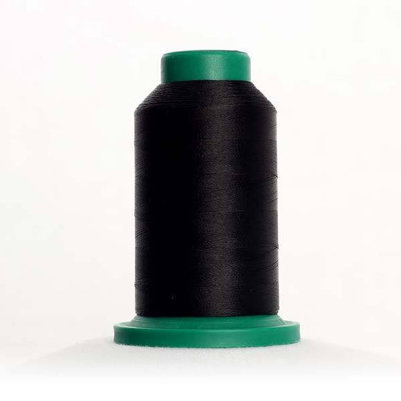 Isacord 5000m/5500yd 40wt solid trilobal polyester thread  number 0020 Black