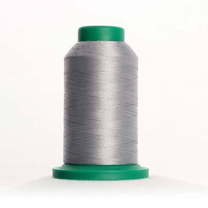 Isacord 5000m/5500yd 40wt solid trilobal polyester thread  number 0105 Ash Mist