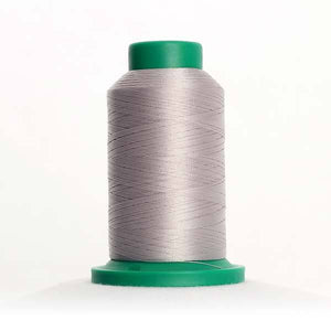 Isacord 5000m/5500yd 40wt solid trilobal polyester thread  number 0150 Mystik Grey