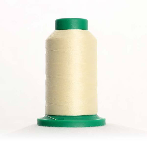 Isacord 5000m/5500yd 40wt solid trilobal polyester thread  number 0270 Buttercream