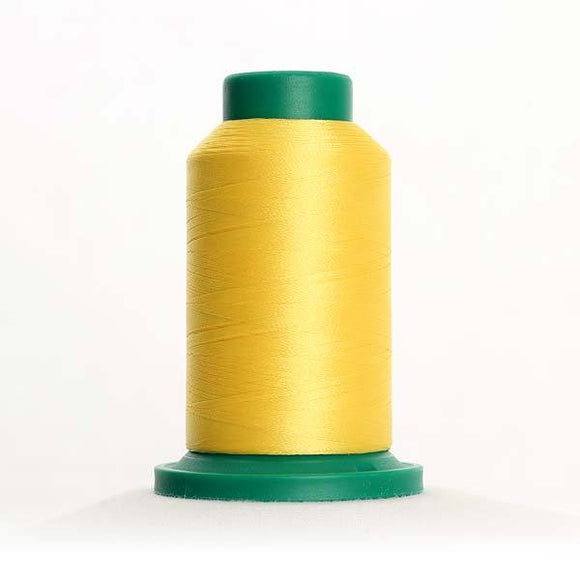 Isacord 5000m/5500yd 40wt solid trilobal polyester thread  number 0310 Yellow