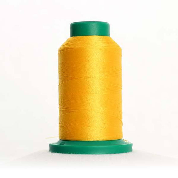 Isacord 5000m/5500yd 40wt solid trilobal polyester thread  number 0311 Canary