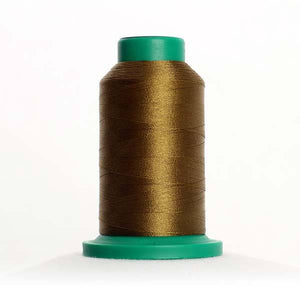 Isacord 5000m/5500yd 40wt solid trilobal polyester thread  number 0345 Moss