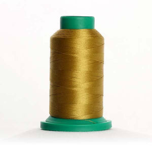 Isacord 5000m/5500yd 40wt solid trilobal polyester thread  number 0442 Tarnished Gold