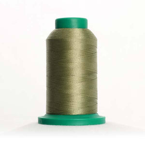Isacord 5000m/5500yd 40wt solid trilobal polyester thread  number 0453 Army Drab